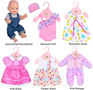 ddaa5cde97d7d ebuddy 6 Sets Doll Clothes Outfits for 14 to 16 Inch New Born Baby Dolls and