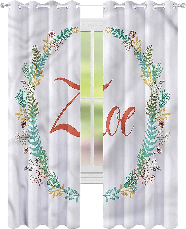 Window Max 70% OFF Curtain Drape Zoe Blossoming Nature x famous Bla Foliage W42 L72
