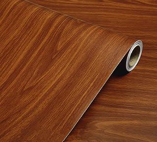 WDragon Rouleau de papier décoratif autocollant avec motif de grain de bois marron pour comptoir, meubles, armoire ou mur ...