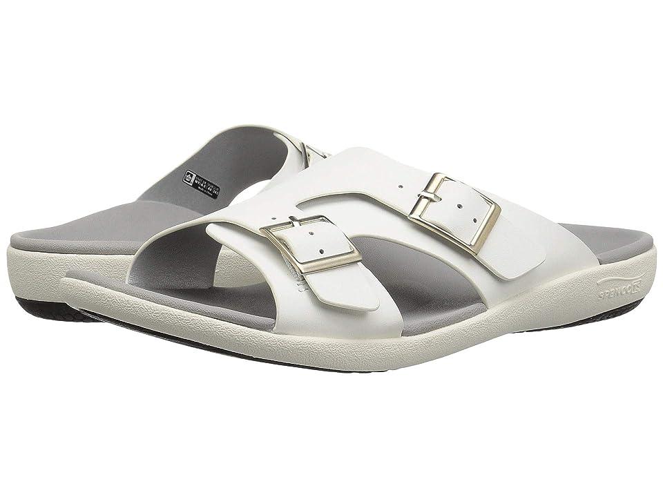 Spenco Brighton Slide Sandal (White Mist) Women