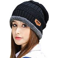 8f9b49c343179a Muryobao Thick Warm Winter Beanie Hat Soft Stretch Slouchy Skully Knit Cap  for Women