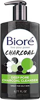Biore Deep Pore Charcoal Daily Face Wash 6.77 Ounce