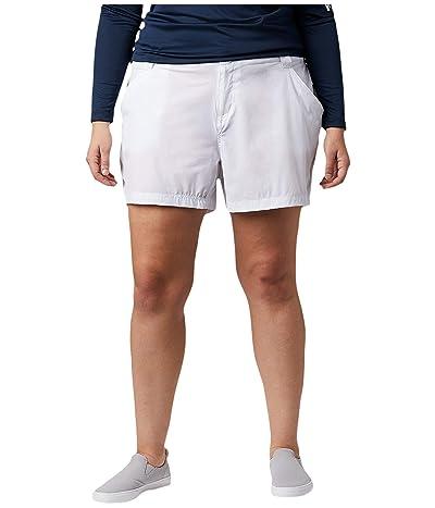 Columbia Plus Size Coral Point III Shorts (White) Women