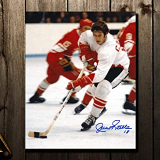Jean Ratelle Team Canada 1972 Summit Series WHITE JERSEY Autographed 8x10