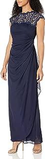 Women's Metallic Cutout Lace Dress (Petite and Regular Sizes)