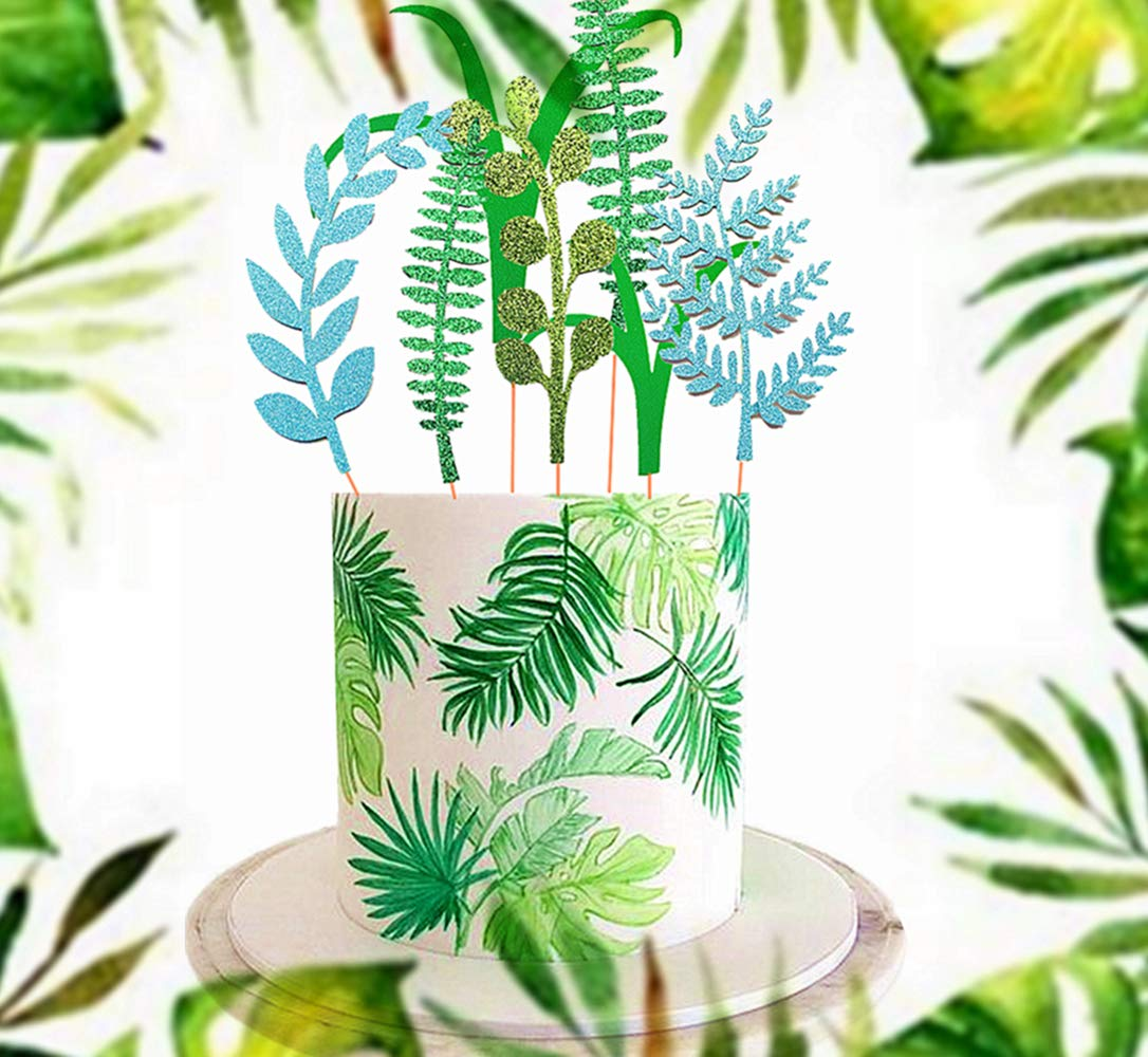 Georld 48pcs Edible Palm Leaves Cupcake Toppers Hawaiian Tropical Party Cake Summer Decoration Home Kitchen Event Party Supplies Looking for shade tolerant edible plants to grow on the north side of a fence, building or tall trees? genius library learning house