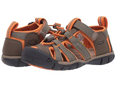 KEEN Kids Seacamp II CNX (Toddler/Little Kid) (Dusty Olive/Russet Orange) Boys Shoes