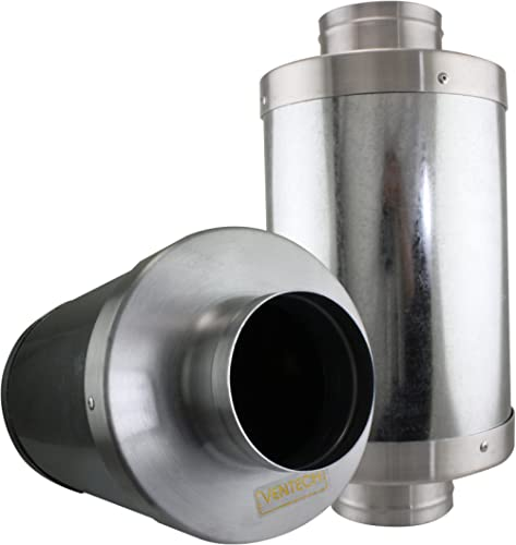 "VenTech FS4 4"" Muffler Noise Reducer Silencer System for Inline Duct Fan"