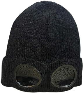 YOJEE Womens Solid Color Winter Knit Beanie Hats Ski Goggles Ski Cap