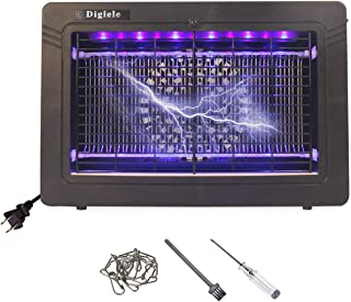 DIGIELE Bug Zapper, Indoor Mosquito Killer with UV Light, 7W Electric Mosquito Trap for Home, Office, Restaurant and Supermarket, Built-in 11pcs LED Trap Lamps & Suction Fan, EPA & FCC Approved