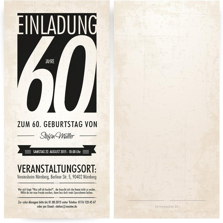 Einladungskarten zum Geburtstag (40 Stück) Monochrom edel Schwarz Weiß Vintage Retro B00PSEGFX4   Genialität