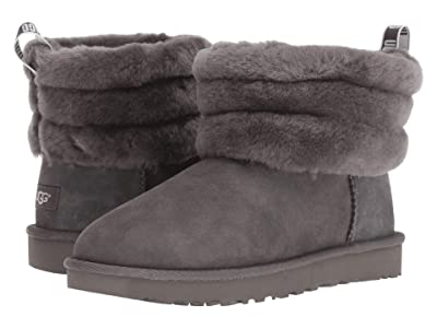 UGG Fluff Mini Quilted (Charcoal) Women
