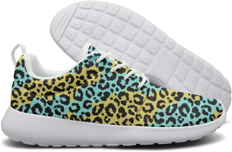 ERSER Green Leopard Print Mike Running shoes Women