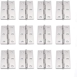 Best Karcy Hinges Dwinging Door Hinge Silver Stainless Steel 3 Inch Hinge Pack of 12 Review