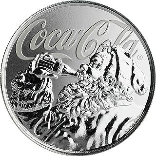 2019 FJ Cocacolacap PowerCoin COCA COLA Santa Claus 1 Oz Silver Coin 1$ Fiji 2019 Proof