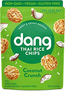 Dang Thai Rice Chips | Coconut Crunch | 4 Pack | Vegan, Gluten Free, Non Gmo Rice Crisps, Healthy Snacks Made with Whole F...