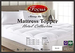 Mattress Topper - Queen Size (160x200cm) thickness 3 cm - 100% Cotton, Soft Fluffy and Warm Hotel Quality