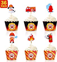 Best fire engine cupcake decorations Reviews