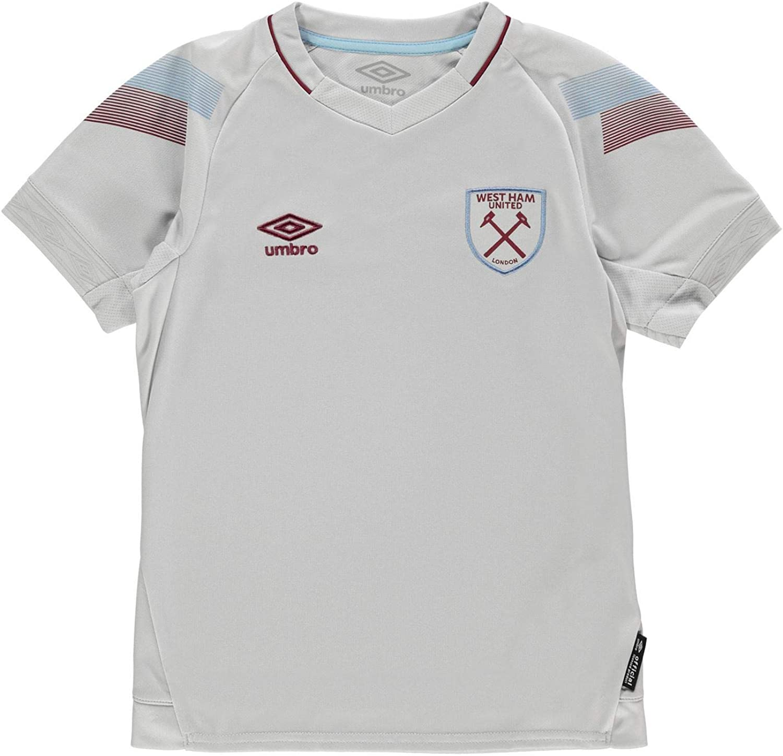 Umbro West Ham United Third Jersey 2018 2019 Juniors Grey Football Soccer Top