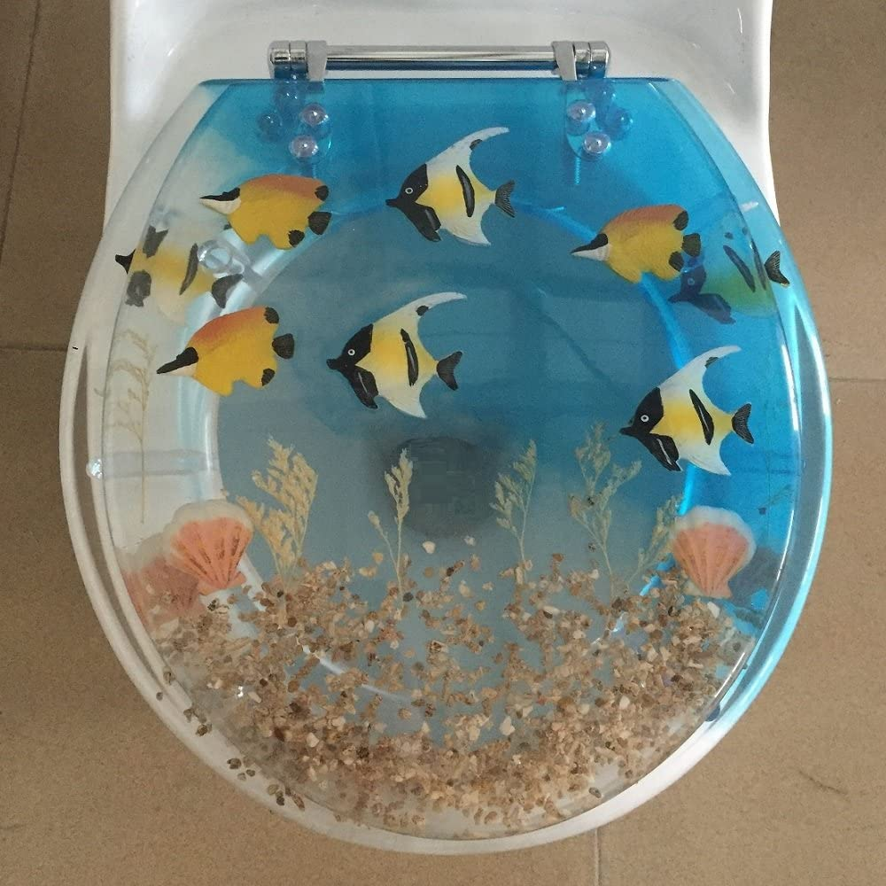 Heavy duty Fish Aquarium Elongated Sale item Oval Toilet Cover A with Popularity Seat