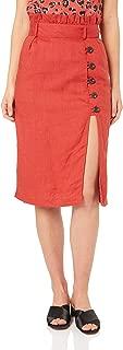 Suboo Women's Rising Sun Paperbag Midi Skirt
