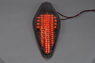 Topzone Lighting Smoked Lens Motorcycle Led Taillights Brake Tail Light with Integrated Turn Signal Lamp Indicators For Honda VTX 1300/1800 RETRO, 1800T