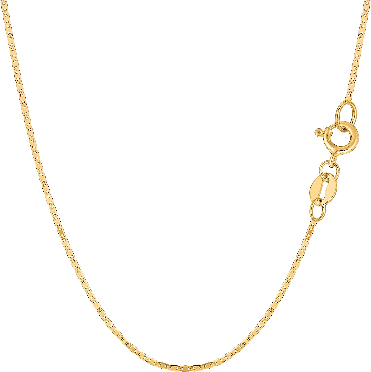10k Yellow Gold Mariner Link Chain Necklace, 1.2mm