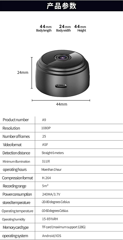A9 32 GB Mini IP WiFi versteckte Kamera APP ABCCAM HD 1080P ...