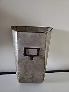 Colonial Tin Works Galvanized Wall Pocket Organizer