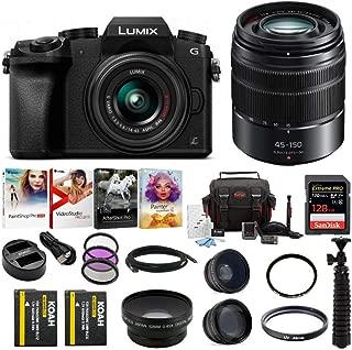 Panasonic LUMIX G7 Mirrorless Camera (Black) with Lens and Accessory Bundle