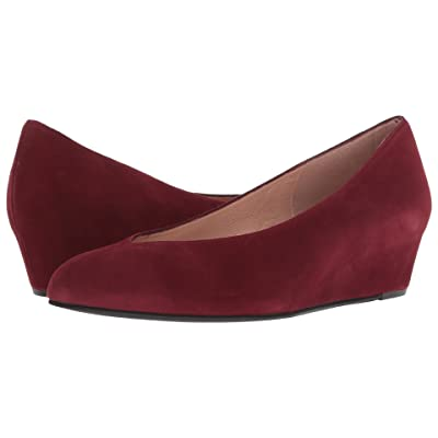 French Sole Cubic Wedge Heel (Port Wine Suede) Women