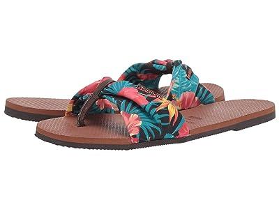 Havaianas You Saint Tropez Sandals (Rust) Women