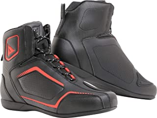 Dainese Raptor Air Shoes (41) (Black/Black/Fluorescent RED)