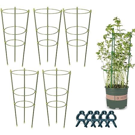 5x Garden Climbing Plant Support Cage Garden Trellis Rings Tomato//Veg Stand Set