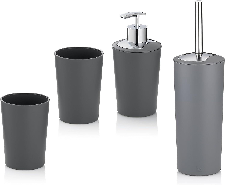 Kela Marta Bathroom 高価値 Set Plastic One Grey Size 期間限定お試し価格