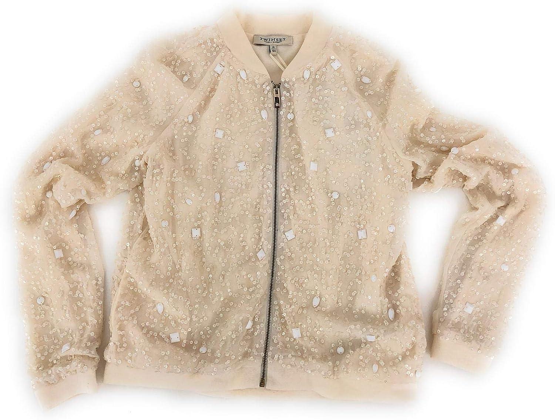 Twin Set Mdchen Sweatshirt Elfenbein Elfenbein