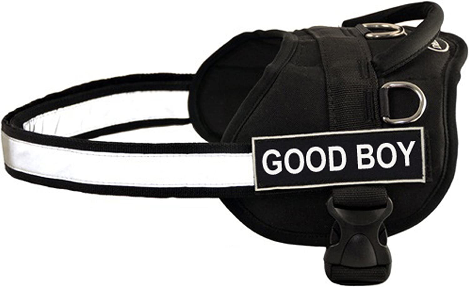 Dean &Tyler D &T WFON GOODB BKXXS Works Fun Harness, Good Boy, XXSmallFits Girth, 46cm a 53cm, Black /White