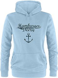 Ezyshirt Hamburger Jung & Deern Vol. 2 Damen Hoodie   Damen Kapuzenpullover   Damen Pullover