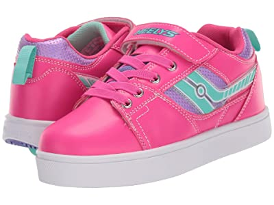 Heelys Racer X2 (Little Kid/Big Kid/Adult) (Hot Pink/Lilac/Mint) Girls Shoes