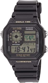 Casio Men's Black Dial Resin Digital Watch - AE-1200WH-1BVDF