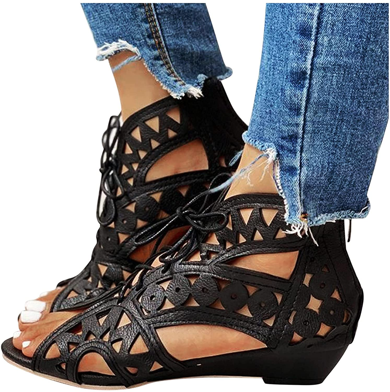 Bargain Las Vegas Mall Sandals for Women Wedge 2021 Fashion Summer Buckle Ankle
