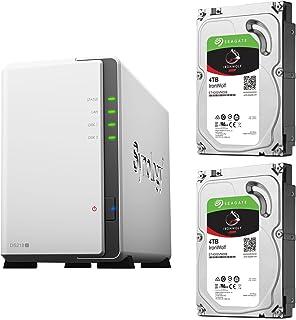 【NAS HDDセット】Synology DS218j & Seagate HDD [2ベイ / HDD IronWolf-4TBx2台同梱 / デュアルコアCPU搭載]