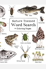 Nature Themed Word Search: Nature Inspired Word Search Book with 64 Puzzles and Bonus Coloring Pages for Kids ages 7 and Up Paperback