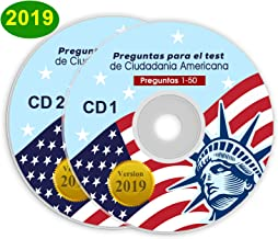 Ciudadania Americana 2019 ( 2 CD ) ENGLISH & SPANISH / INGLES & ESPAÑOL with all Official 100 USCIS Questions & Answers USA Naturalization Civic Question.