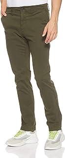 بنطال رجالي من TIMBERLAND Squam Lake مصنوع من الساتان شديد التمدد، أخضر (حقيبة من القماش المطاطي)، المقاس: 34