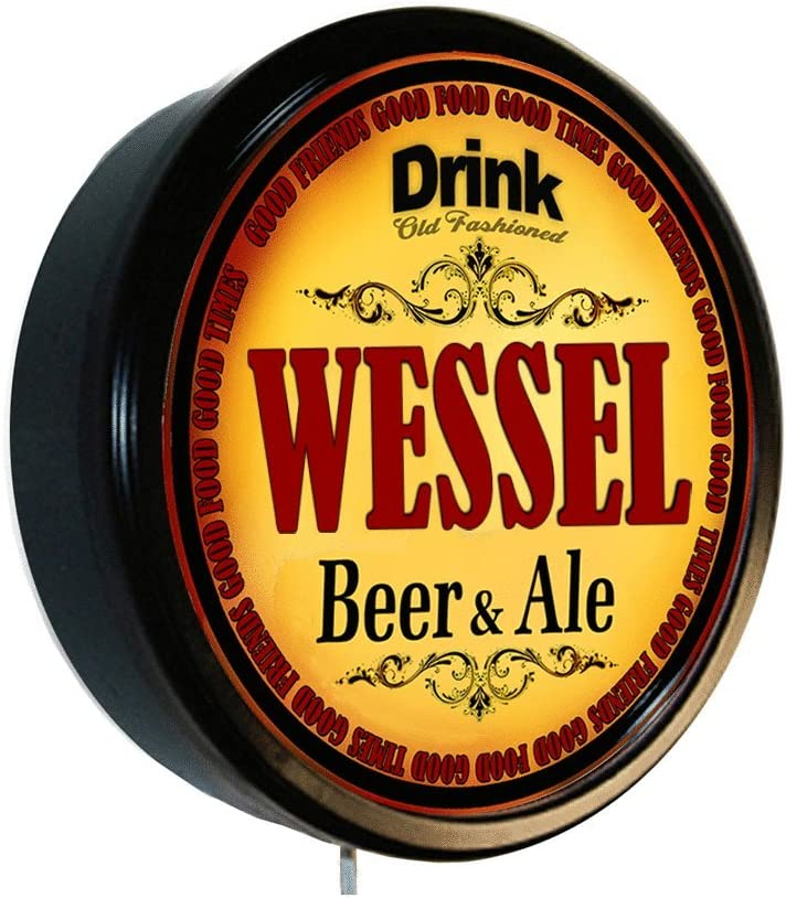 Goldenoldiesclocks WESSEL Beer and Ale It is very popular Sign Wall Store Cerveza Lighted