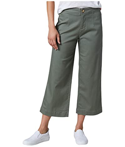 Jag Jeans Alicia Wide Leg Twill Crop (Eucalyptus) Women
