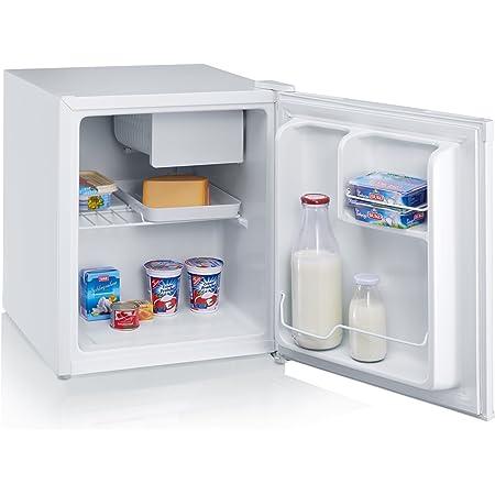 SEVERIN Réfrigérateur, Pose libre, Longueur 43,9cm, 43L, Freezer 5L, Porte réversible, Classe F, 100 kWh/an, 40 dB, Blanc, KS 9827