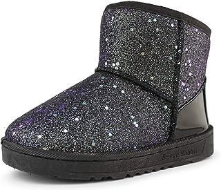 Hawkwell Baby Girls Cotton Lining Glitter Warm Winter Snow Boots (Toddler/Little Kids)