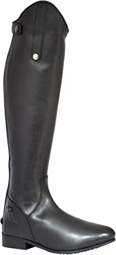 Mark Todd Full Zip Leather Riding botas de Equitación, Hombre, negro, 45 EU Ancho